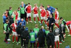 Danijos rinktinės treneris K.Hjulmandas pripažino klaidą: mano, kad po Ch.Erikseno dramos nebereikėjo rungtyniauti toliau