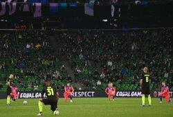 """Daugiau nei pusė """"Krasnodar"""" futbolininkų atsisakė klauptis prieš rungtynes: internautai supyko"""