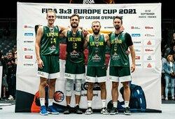 Serbų nukarūnuoti nepavyko: Lietuvos krepšininkai – Europos 3x3 vicečempionai