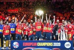 Ispanai įtemptose rungtynėse apgynė Europos rankinio čempionų titulą