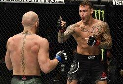 """""""UFC 257"""" turnyro atgarsiai socialiniuose tinkluose: paaiškėjo, kiek naujų sekėjų sulaukė C.McGregoras ir D.Poirier"""