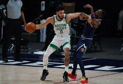"""J.Tatumas paskutinę minutę ištempė """"Celtics"""" į pergalę"""