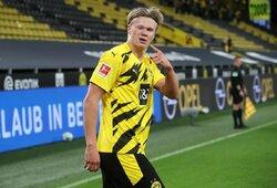 """""""Borussia"""" įvardijo sumą, už kurią galėtų parduoti E.Haalandą"""