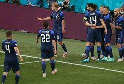 Istorinė pergalė Euro 2020: debiutantė Suomija įveikė be Ch.Erikseno likusius ir 11 m baudinio nerealizavusius danus