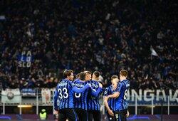 """""""Atalanta"""" svajonė Čempionų lygoje tęsiasi: sutriuškino """"Valencia"""""""
