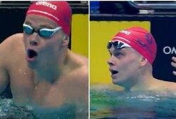 Neįtikėtina: D.Rapšys sustojo likus 50 m iki finišo ir vis tiek laimėjo plaukimą