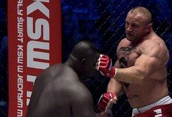 """""""KSW 64"""": M.Pudzianowskis vos per 17 sekundžių nokautavo milžiną iš Senegalo"""