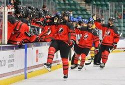 Pasaulio U18 ledo ritulio čempionato pusfinaliai: 15-mečio vedama Kanada sutriuškino Švediją, rusai palaužė suomius