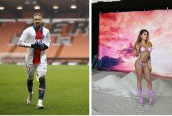 """Traumą besigydantis Neymaras bandė nuvilioti """"Serie A"""" lygos žaidėjo merginą"""