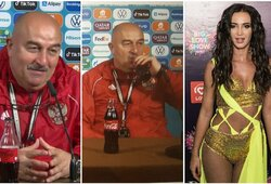 """Coca-Cola"" gėręs S.Čerčesovas apie O.Buzovą: ""Negalime įleisti gražios moters į rūbinę"""