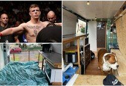 Geriausiu jaunu UFC kovotoju išrinktas J.Crute'as parodė, kokiomis sąlygomis gyvena
