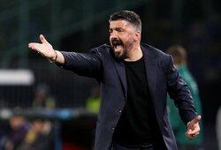 """""""Napoli"""" treneris G.Gattuso: """"Įrodėme, kad galime apsiginti"""""""