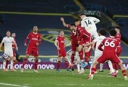 """87-ąją minutę įvartį praleidęs """"Liverpool"""" išleido pergalę iš rankų prieš """"Leeds Utd"""""""