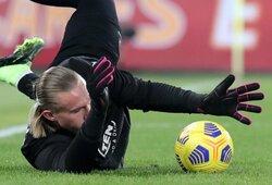 """Progą pasireikšti Italijoje gavęs T.Krapikas šventė pergalę prieš """"Roma"""" klubą"""