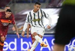 """Italijoje – C.Ronaldo dublis ir """"Juventus"""" lygiosios su """"Roma"""""""