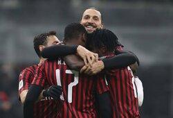 Zlatano efektas: Milano klubas tokio rezultato laukė dvejus metus