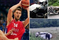 Į šiurpią avariją patekęs Serbijos rinktinės krepšininkas – komoje