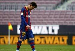 """""""Barcelona"""" kapituliuoja: pralaimėjimą patyrę katalonai pasitraukė iš kovos dėl """"La Liga"""" titulo"""