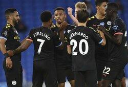 """Anglijoje – R.Sterlingo """"hat-trickas"""" ir triuškinama """"Man City"""" pergalė"""