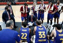 """Antausis Š.Jasikevičiui ir """"Barcelonai"""": pralaimėta Eurolygos autsaideriams"""