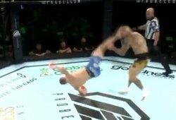 Pamatykite: Didžiojoje Britanijoje prancūzas įspūdingu veiksmu nokautavo 25 kovas UFC turėjusį britą