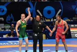 Svajonė labai arti: imtynininkas P.Galkinas – per vieną pergalę nuo olimpinio kelialapio
