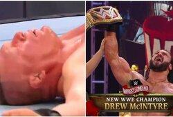 """""""WrestleMania 36"""": B.Lesnaras prarado WWE čempiono diržą, J.Cena pralaimėjo absurdišką kovą"""