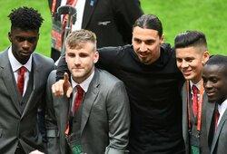 """Treniruotes su Z.Ibrahimovičiumi prisiminęs L.Shaw: """"Jei esi jo komandoje ir pralaimi, tu – negyvas"""""""