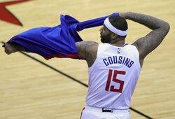 NBA kontrakto neturinčiam D.Cousinsui – dėmesys iš Kinijos