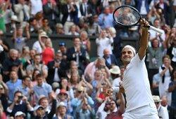 Teniso legendų trileryje – 11 metų lauktas R.Federerio revanšas