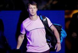 """Pavyzdingai kovojęs R.Berankis baigė pasirodymą """"Australian Open"""" vienetų varžybose"""