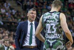 """Š.Jasikevičius: """"Nei žaidėjai, nei treneris nebevaikščios iškelta galva, L.Westermanno ar B.Davieso čia jau nebėra ir reikia kažkam užimti jų vietą"""""""