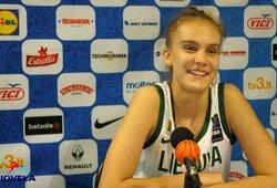 """Lietuvos rinktinėje debiutavusi J.Jocytė: """"Tuoj sueis 14 metų, neatrodysiu taip jaunai"""""""