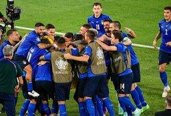 Euro 2020: šveicarus sutriuškinusi Italijos rinktinė pirmoji prasibrovė į atkrintamąsias