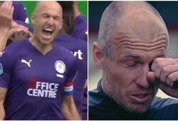 """Geriausiu mačo žaidėju tapęs ir ašarų nesulaikęs A.Robbenas: """"Jei mane pakvies į rinktinę, tikrai atvyksiu"""""""