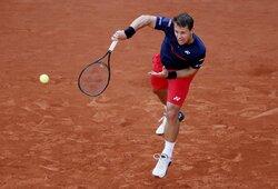 """""""Roland Garros"""" antrasis ratas: R.Berankis – N.Djokovičius 1:6, 0:0 (GYVAI)"""
