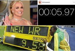 Sporto visuomenę papiktinęs pareiškimas: B.Spears pagerino U.Bolto pasaulio rekordą?