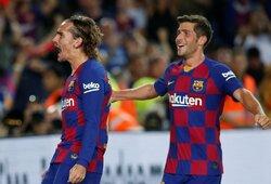 """Istorinis A.Griezmanno dublis paženklintas be L.Messi ir L.Suarezo pagalbos besivertusios """"Barcelonos"""" triuškinama pergale"""