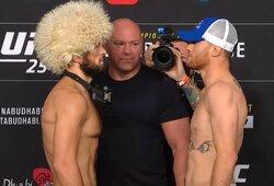 Kova dėl UFC pasaulio čempiono diržo: Ch.Nurmagomedovas – J.Gaethje (1 raundas, GYVAI)