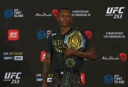 """""""UFC 253"""" algos: I.Adesanya, J.Blachowiczius ir P.Costa uždirbo daugiausiai per karjerą"""