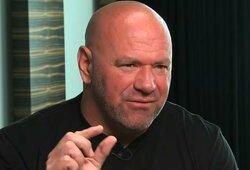 """D.White'as: apie draudimą UFC atletams kovoti su J.Paulu, J.Joneso ateitį, abejones dėl N.Diazo ir paskutinį šansą """"Kaubojui"""""""