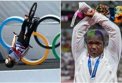 Tokijo olimpiadoje – moterų varžybose niekada nematytas triukas ir R.Saunders protestas