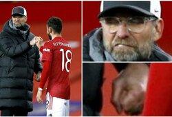 "Po pralaimėjimo ""Man United"" – iškalbinga J.Kloppo reakcija"