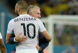 Oficialu: Prancūzija paskelbė galutinę sudėtį Euro 2020čempionatui, D.Deschampsas prakalbo apie pakviestą K.Benzema