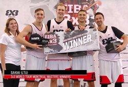 Lietuviai pirmą kartą istorijoje triumfavo pasaulio 3x3 krepšinio ture ir laimėjo pagrindinį piniginį prizą
