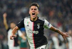 """Čempionų lyga: P.Dybala išvargo """"Juventus"""" pergalę, """"ManCity"""" neturėjo vargo su """"Atalanta"""""""