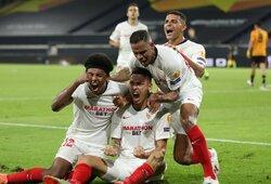 """88-ąją minutę įvartį pelniusi """"Sevilla"""" išplėšė kelialapį į Europos lygos pusfinalį"""