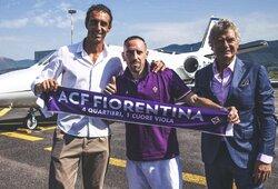 """Oficialu: F.Ribery savo karjerą tęs """"Fiorentina"""" gretose"""