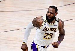 """L.Jamesas įvertino """"Lakers"""" pokyčius šiame tarpsezonyje"""