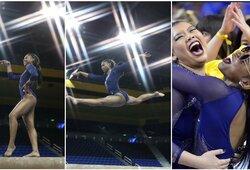 Gimnastė savo pasirodymu sužavėjo JAV: milijonai peržiūrų ir beveik tobulas įvertinimas
